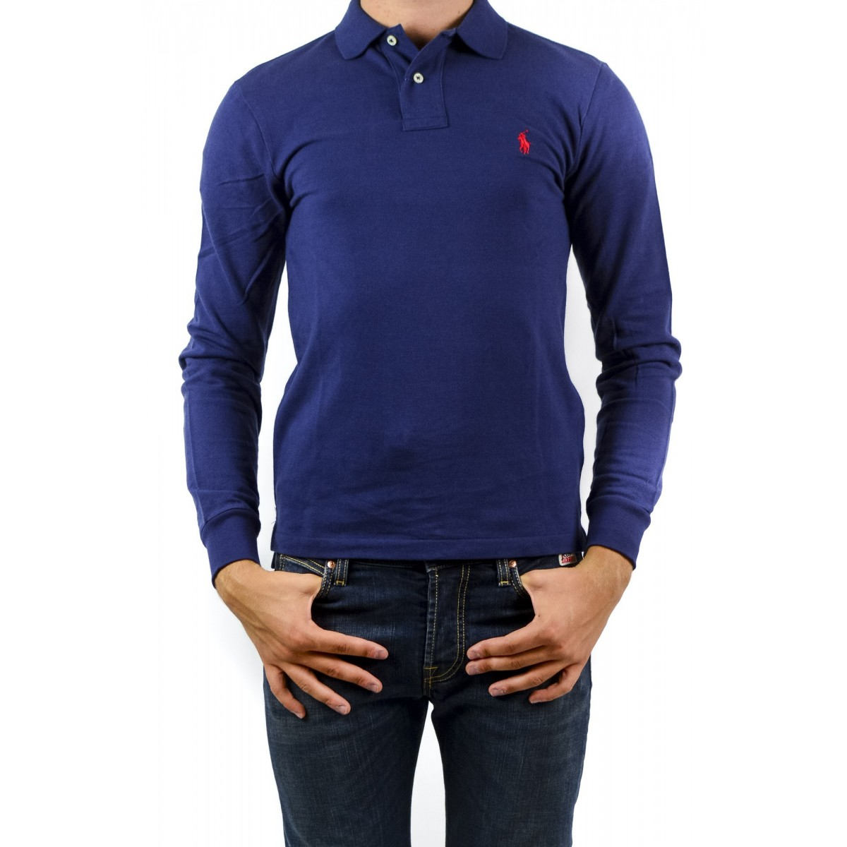 Long-Sleeves Polo Ralph Lauren Man - A12Kkcslc8312 A413B - blu navy