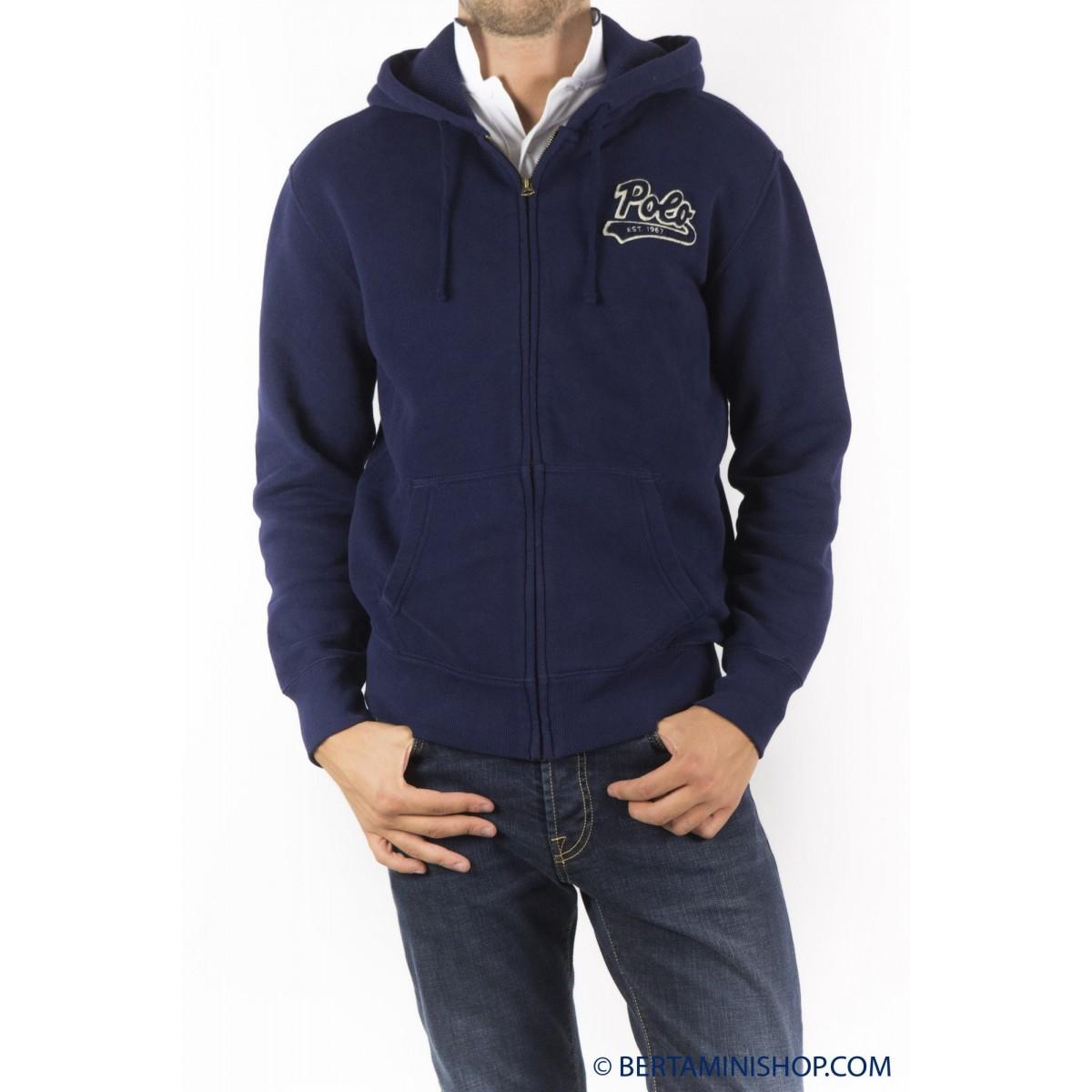Hoodie Ralph Lauren Man - A14Kyingbbiba A4560 - Blu navy