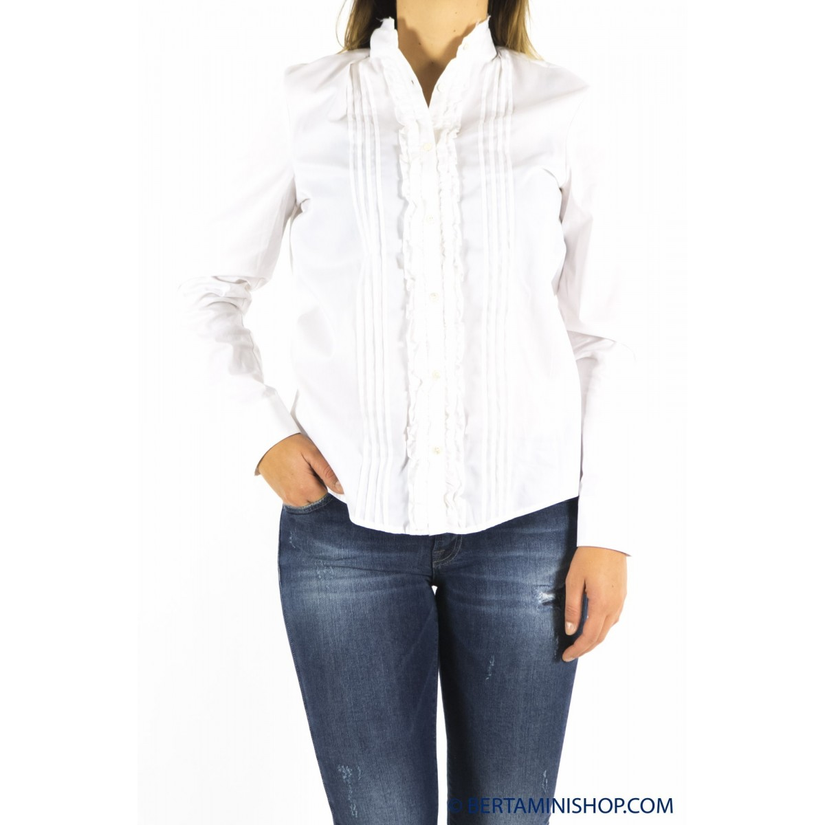 Pantalone donna Department five - D11c53 f1153 camicia strech 001 - bianco