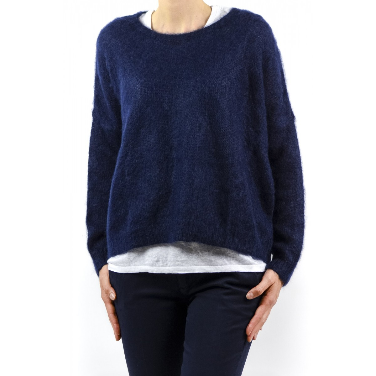 Pullover Department Five Frauen - D11M51 Ff114 100 - Blu