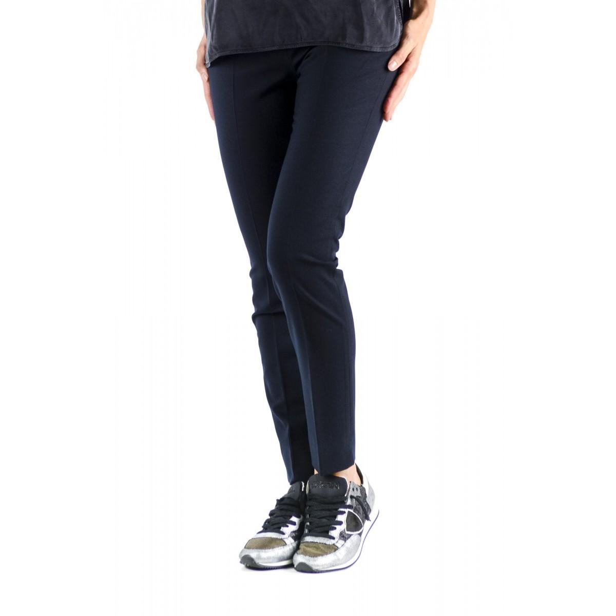 Pantalone donna Incotex - 171499 d1149 arlet flanella lana 820 - Blu