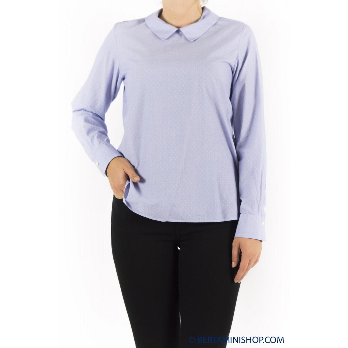Bluse Glanshirt Red Damen - Blanch L6523 802- Azzurra puntino