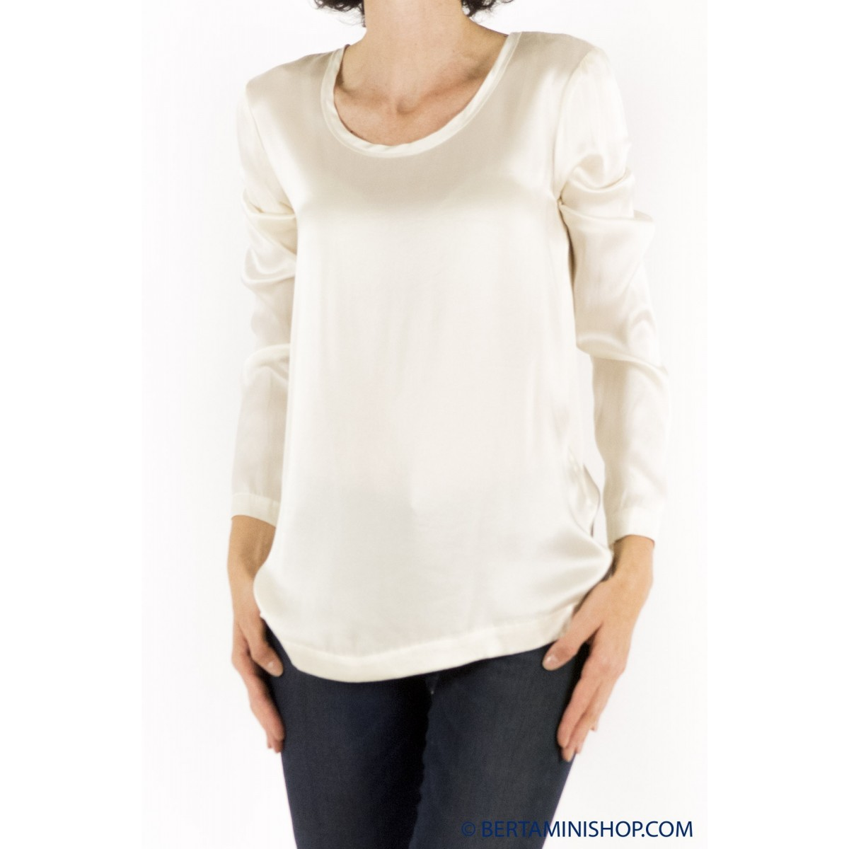 T shirt manica lunga Jucca - 2008 t-shirt seta 078 - burro