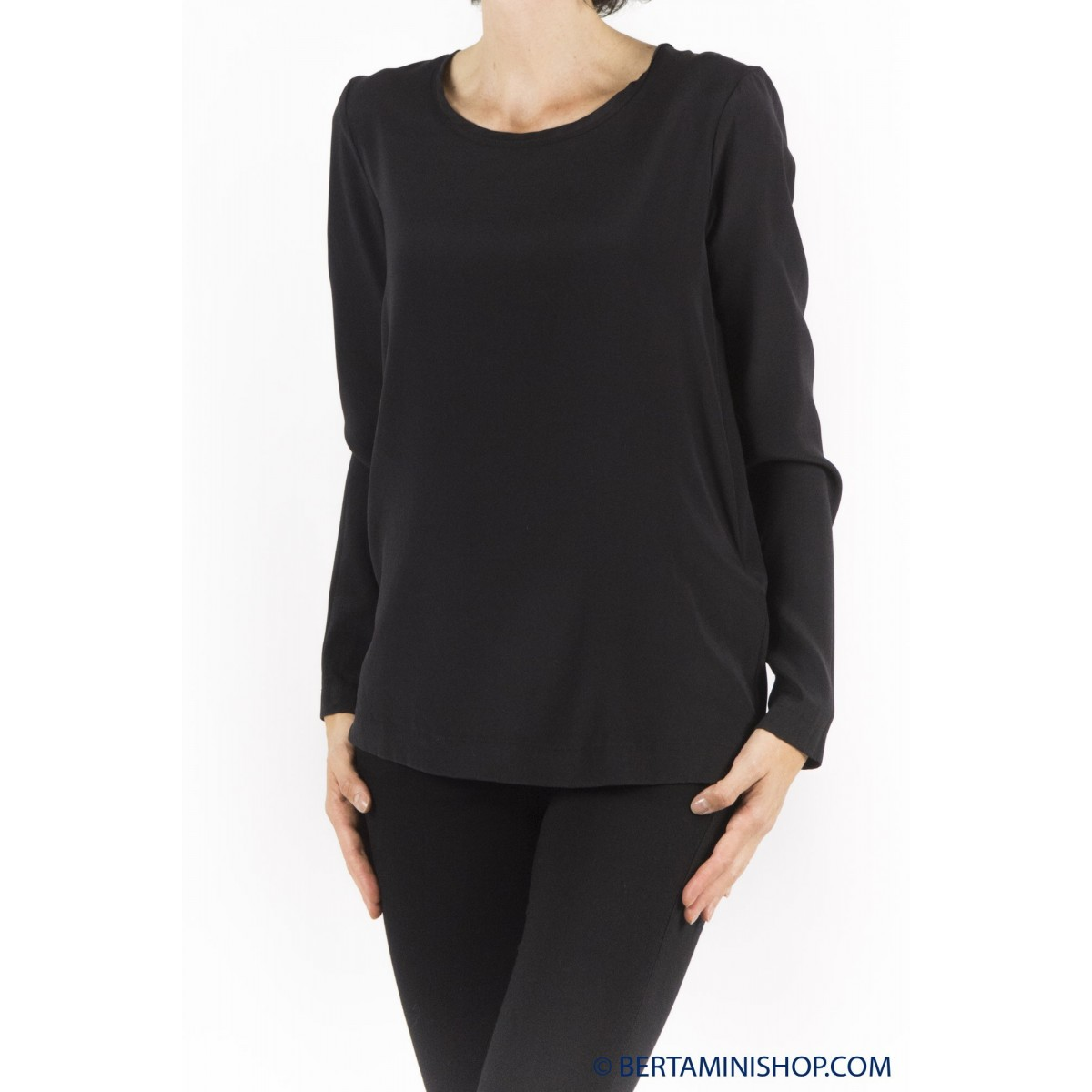 T Shirt Long-Sleeves Jucca Woman - 2008 003 - nero