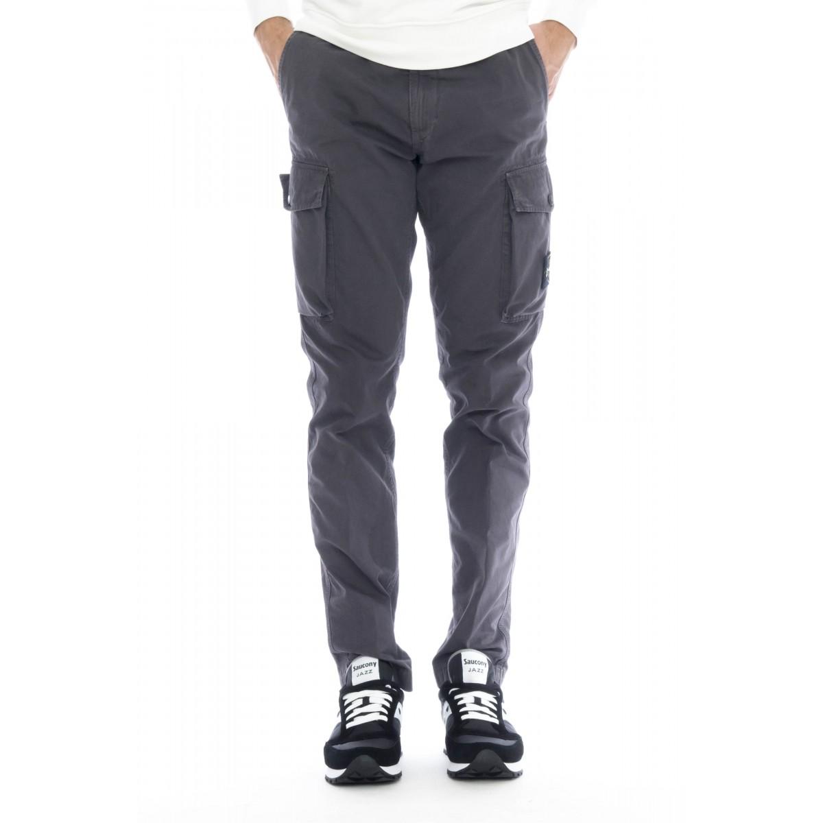 Pantalone uomo - 318wa pantalone tasche slim tela smerigliata