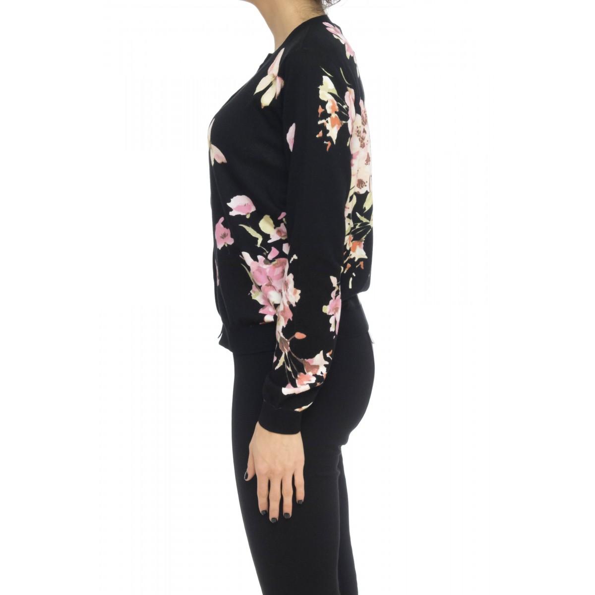 Maglia donna - 341a cardigan fiori