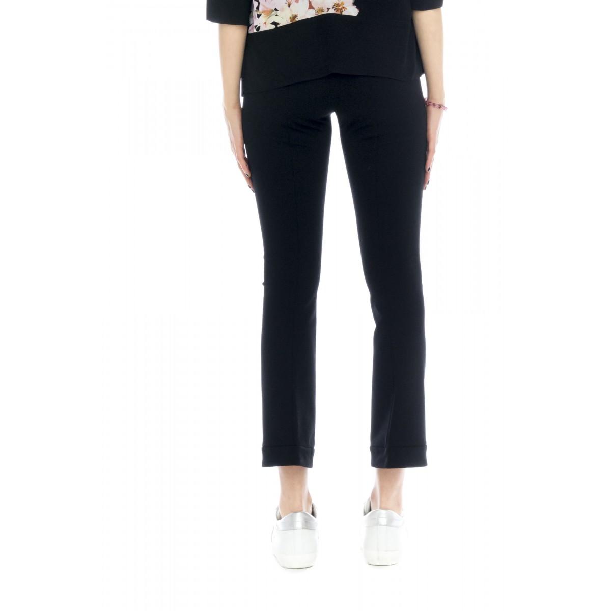Pantalone donna - 2424 pantalone punto milano elastico