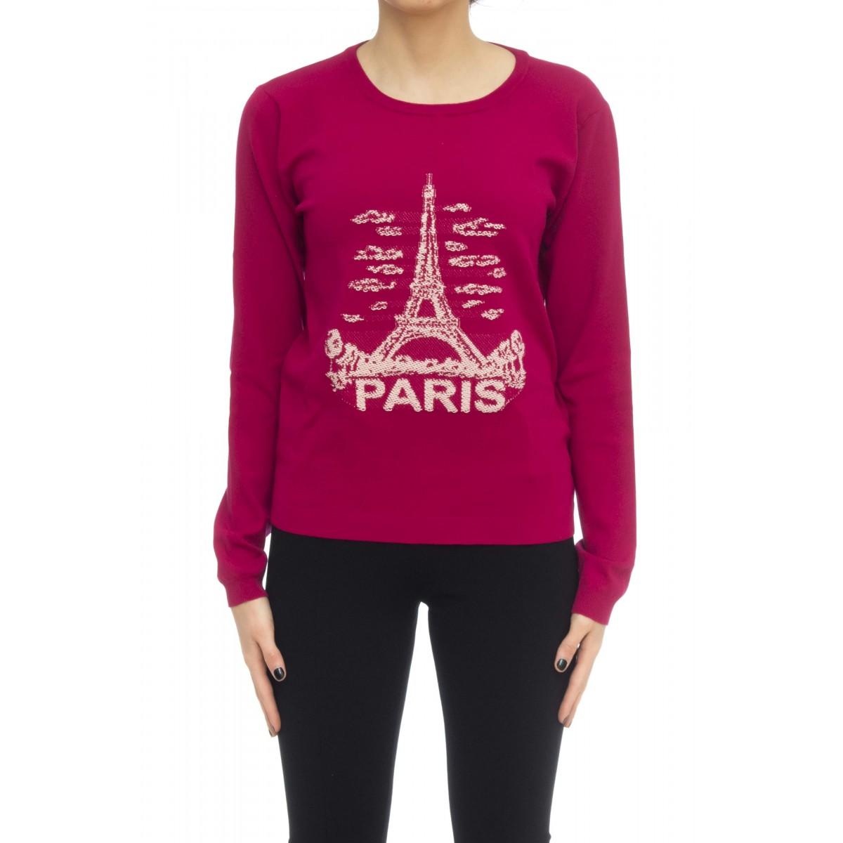 Felpa donna - 3381 maglia parigi