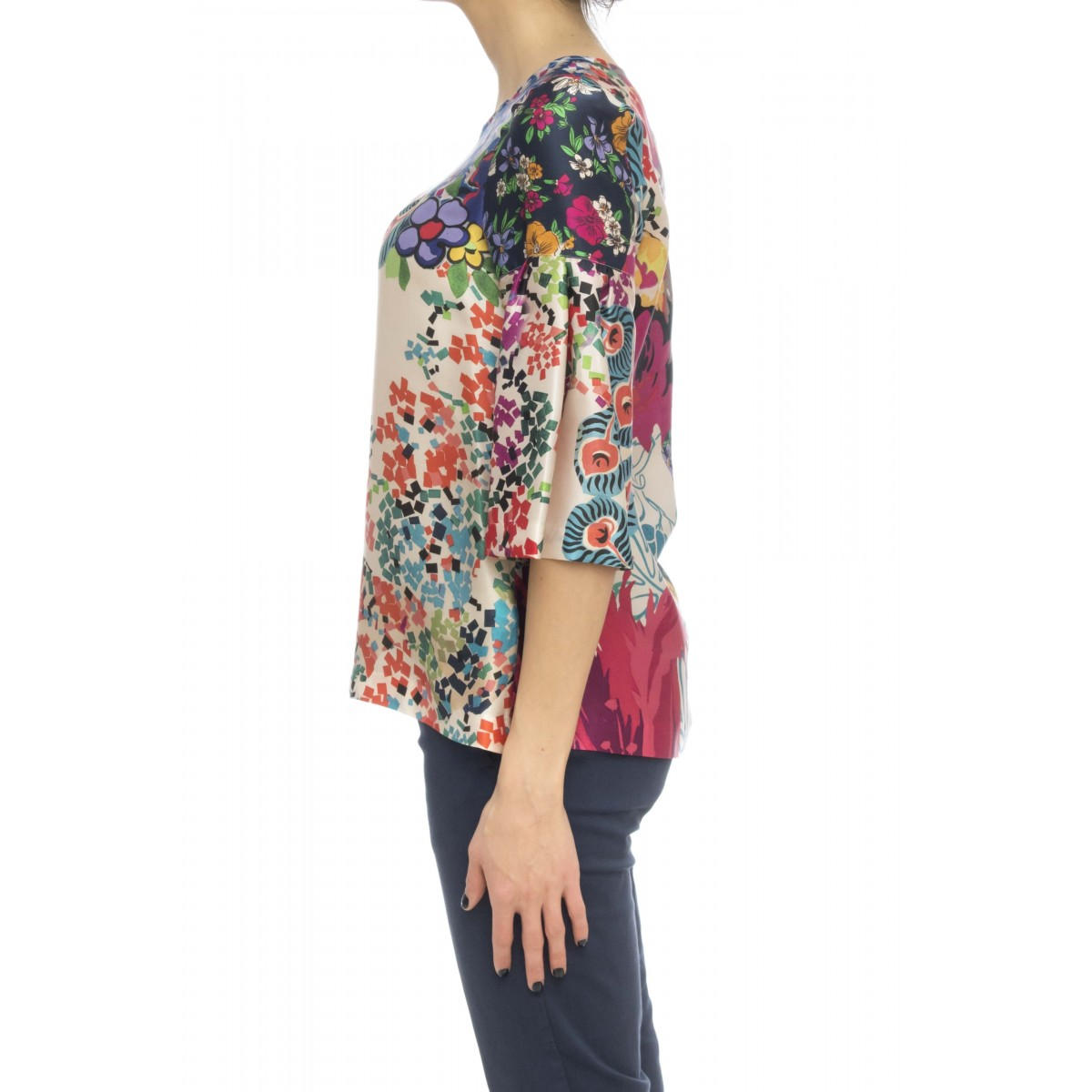Camicia donna - Pjn zuy stampa seta