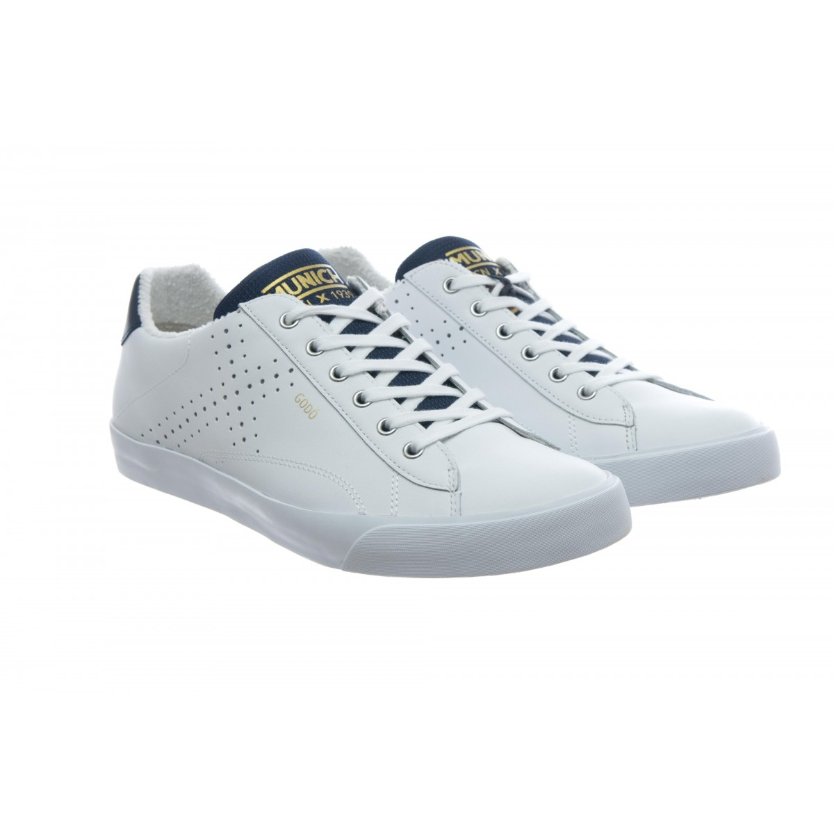 Scarpe - Godo sneakers pelle logo traforato