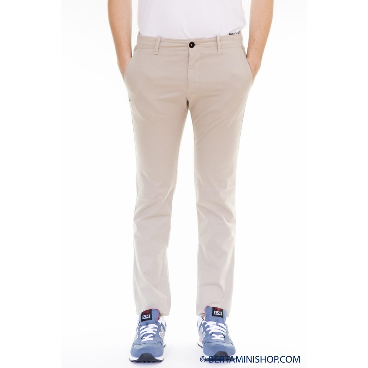 Trousers Stone Island - 3CZJM Gabardine Strech Skinny V0095 - Sabbia