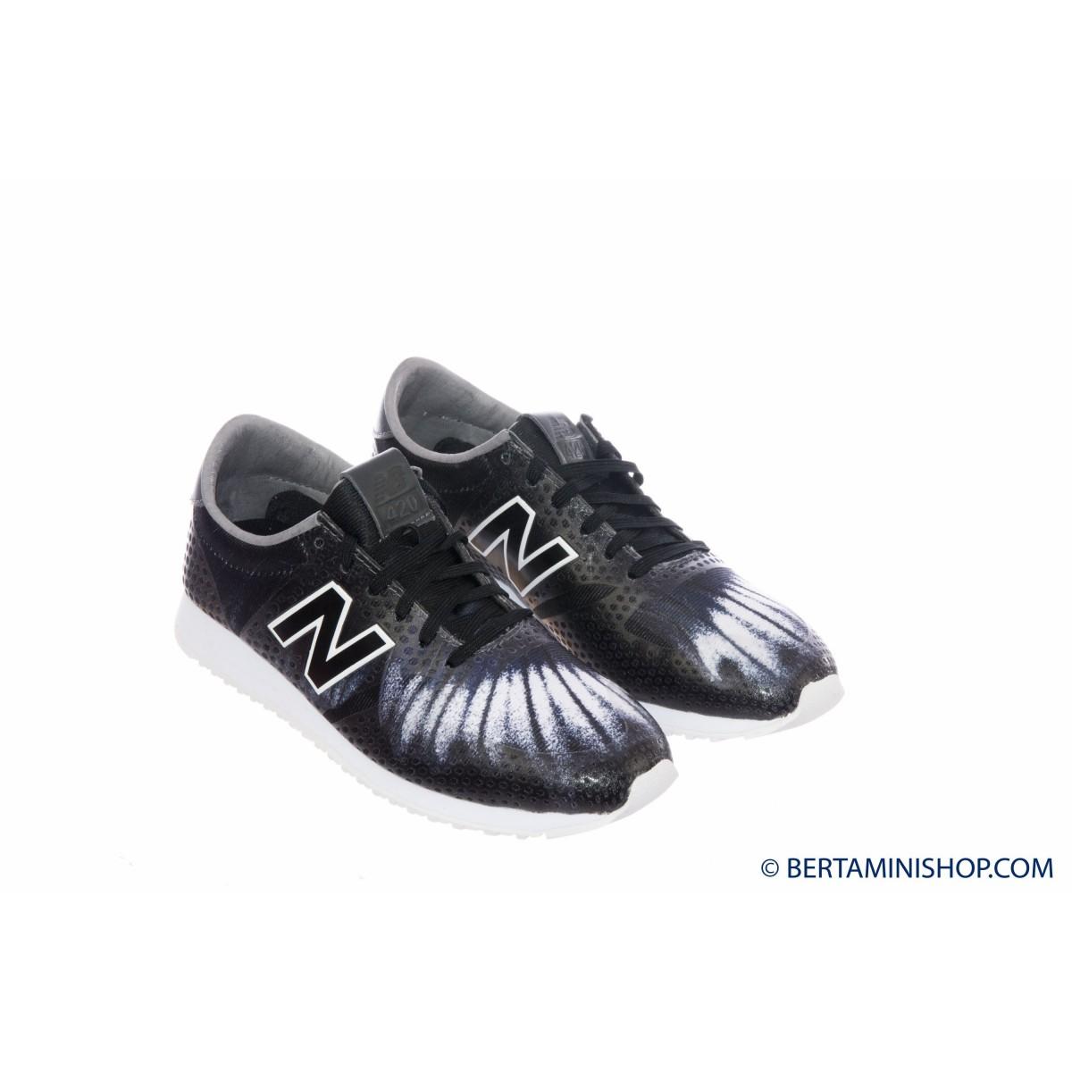 Scarpa New Balance Donna - WL 420 Running Anni 70 Stampa DFC - Nero grigio