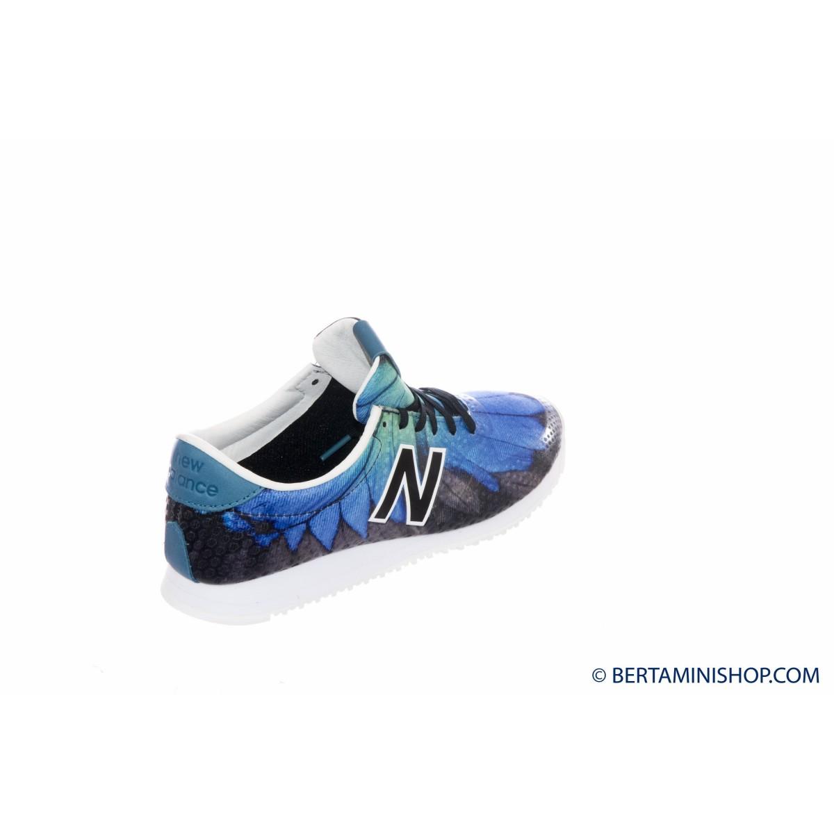 Scarpa New balance - Wl 420 running anni 70 stampa DFB - Nero bluette