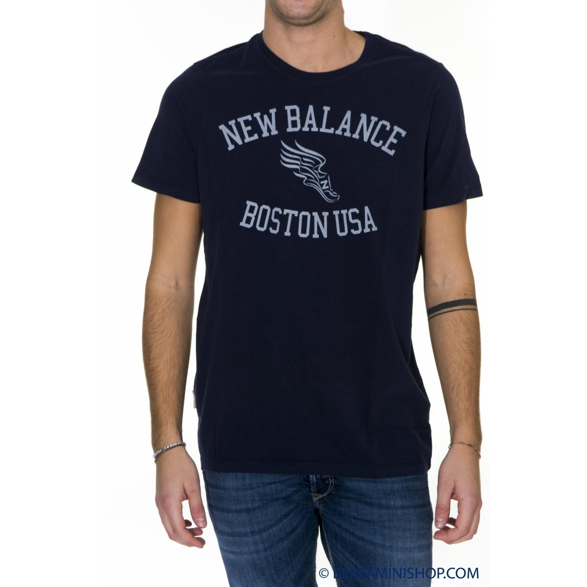 T-Shirt New Balance Man - 16S105 T-Shirt 70 - Blue