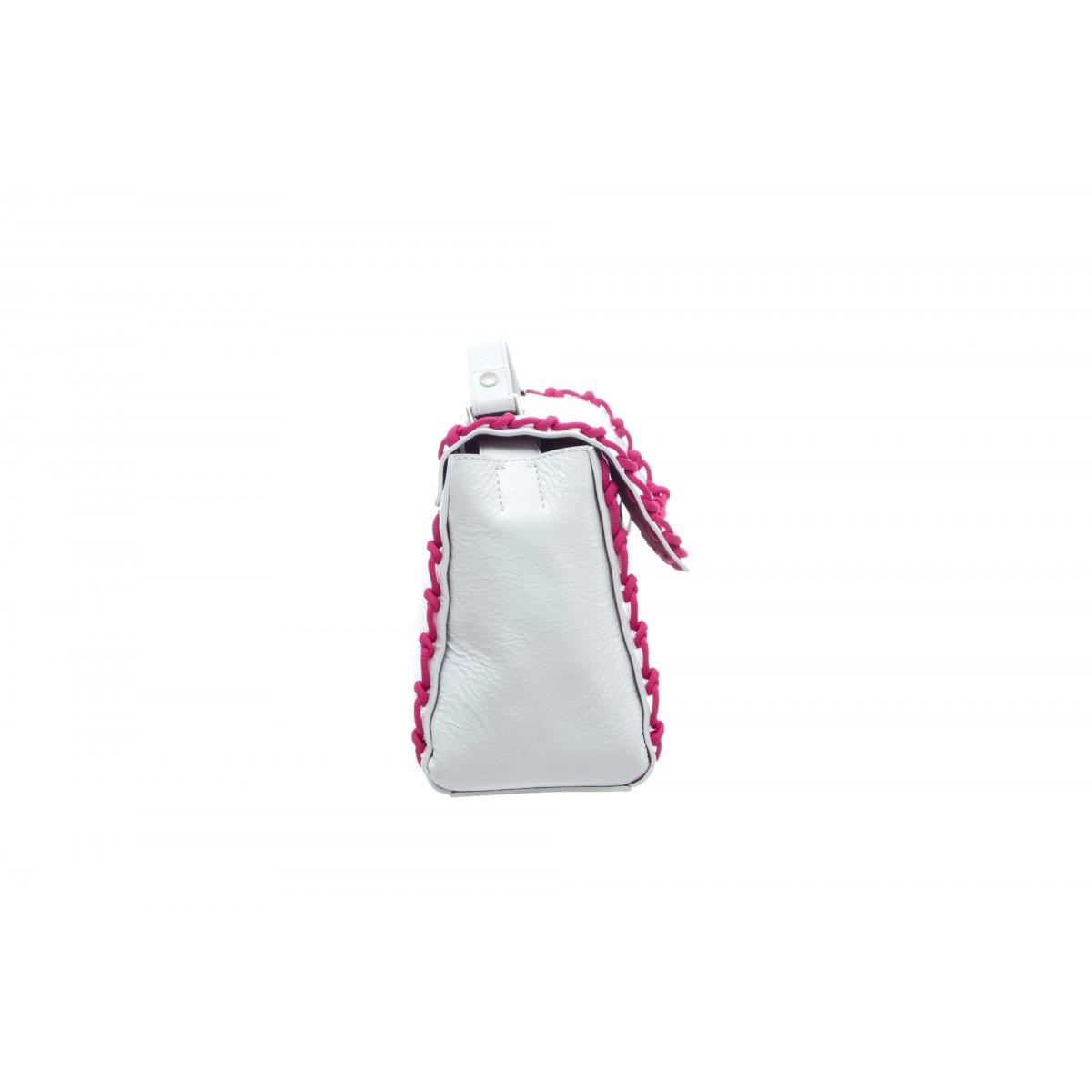 Borsa - Bo1999 crash borsa pelle vernice con tracolla fluo