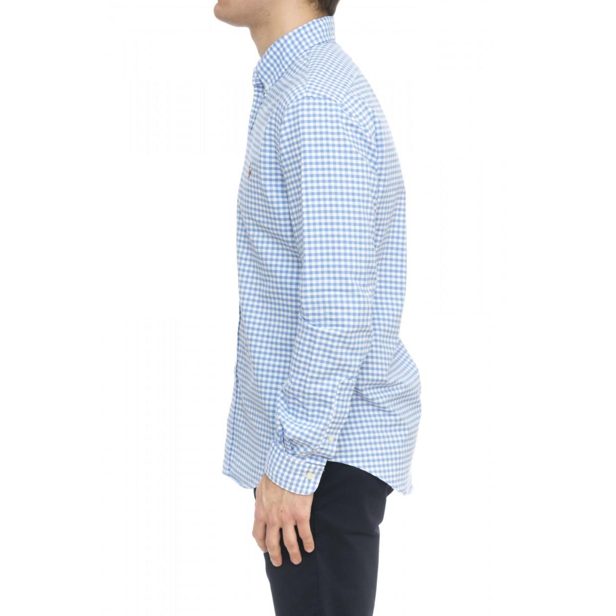 Camicia uomo - 744503 camicia quadro oxford slim