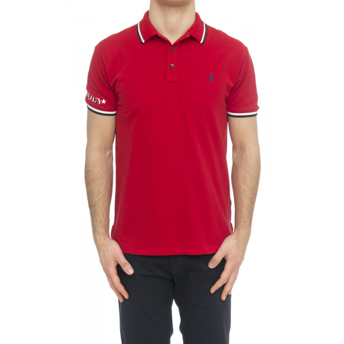Polo - 753174 polo slim righine collo