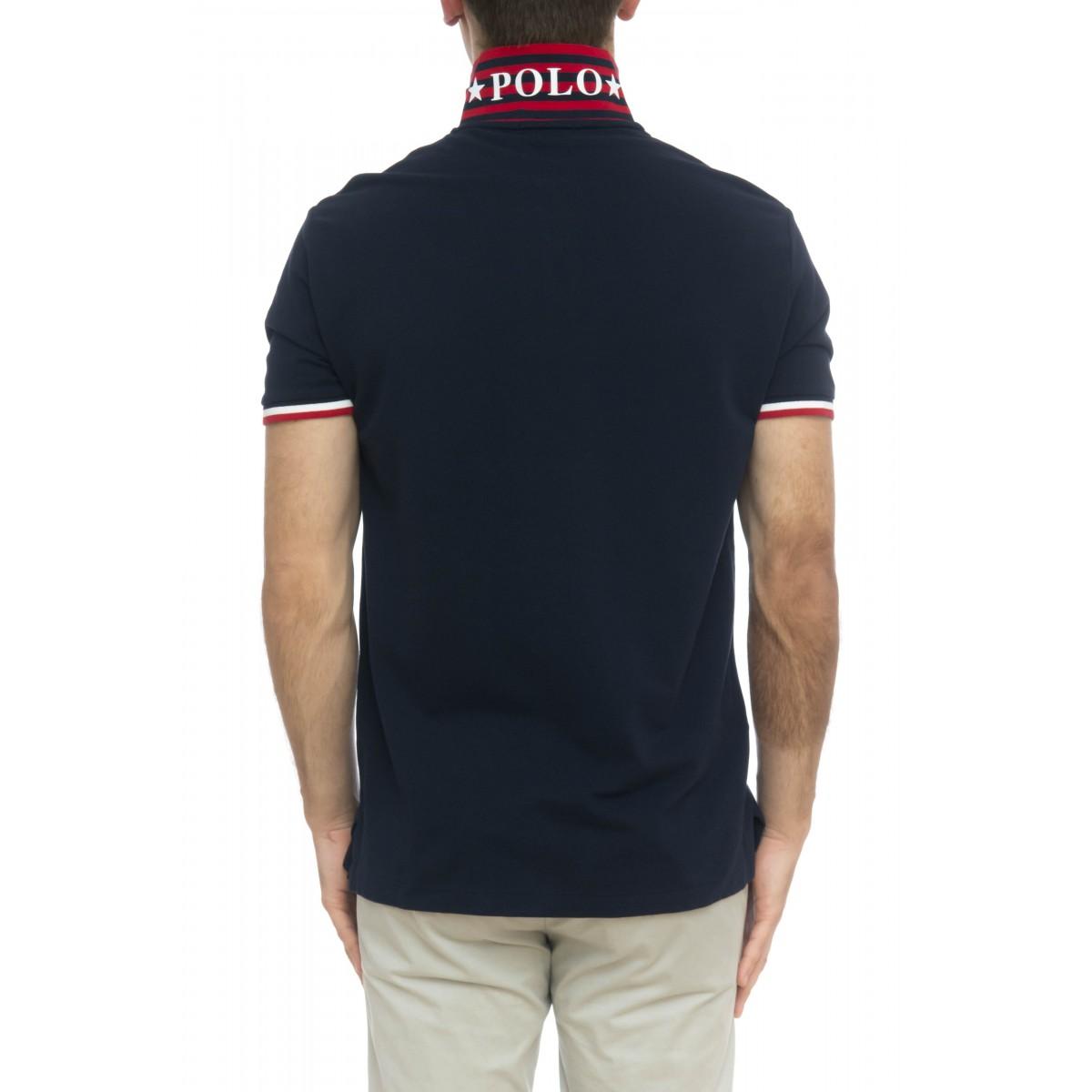 Polo - 753174 polo slim righine collo
