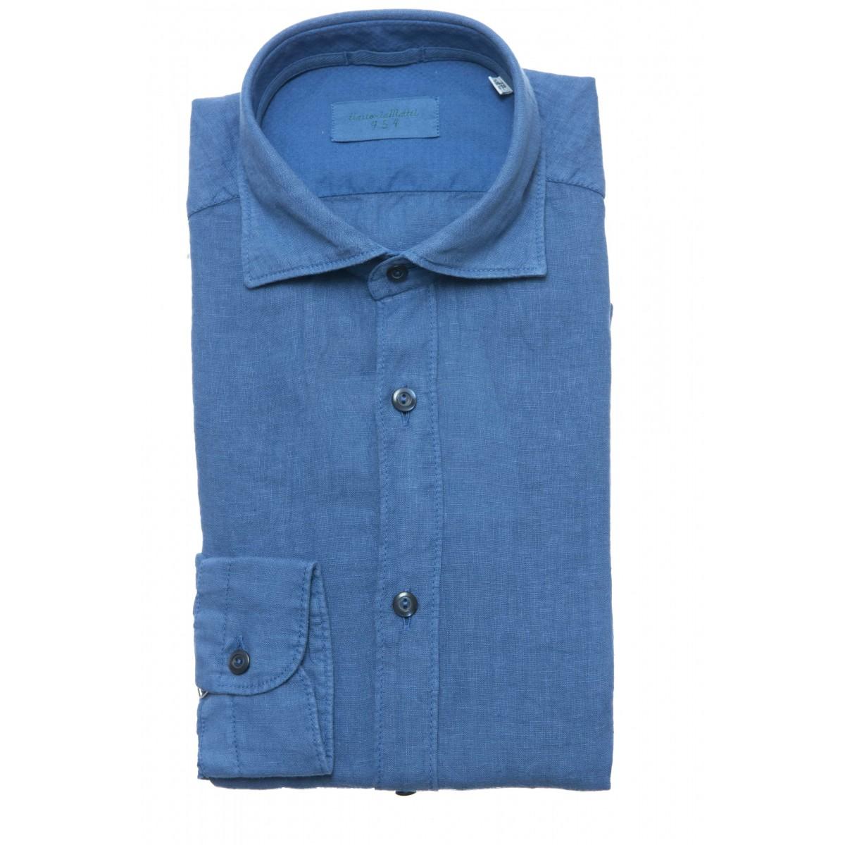 Camicia uomo - Un6 nb9 camicia lino slim