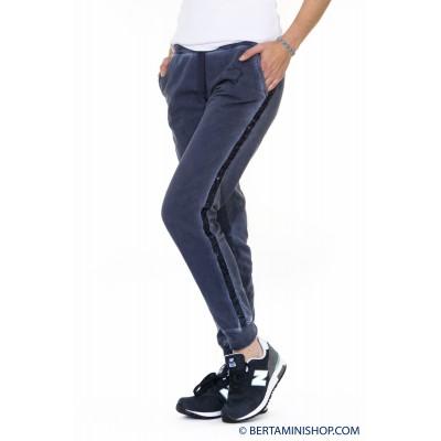 Pantalone donna Better rich - F28p pantalone felpa payettes 3810 - Blu