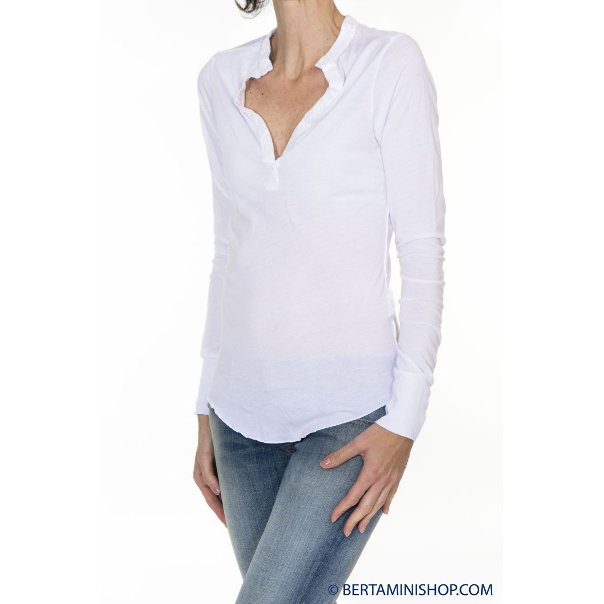 T-shirt donna Better rich - F33 tshirt manica lunga 2000 - bianco