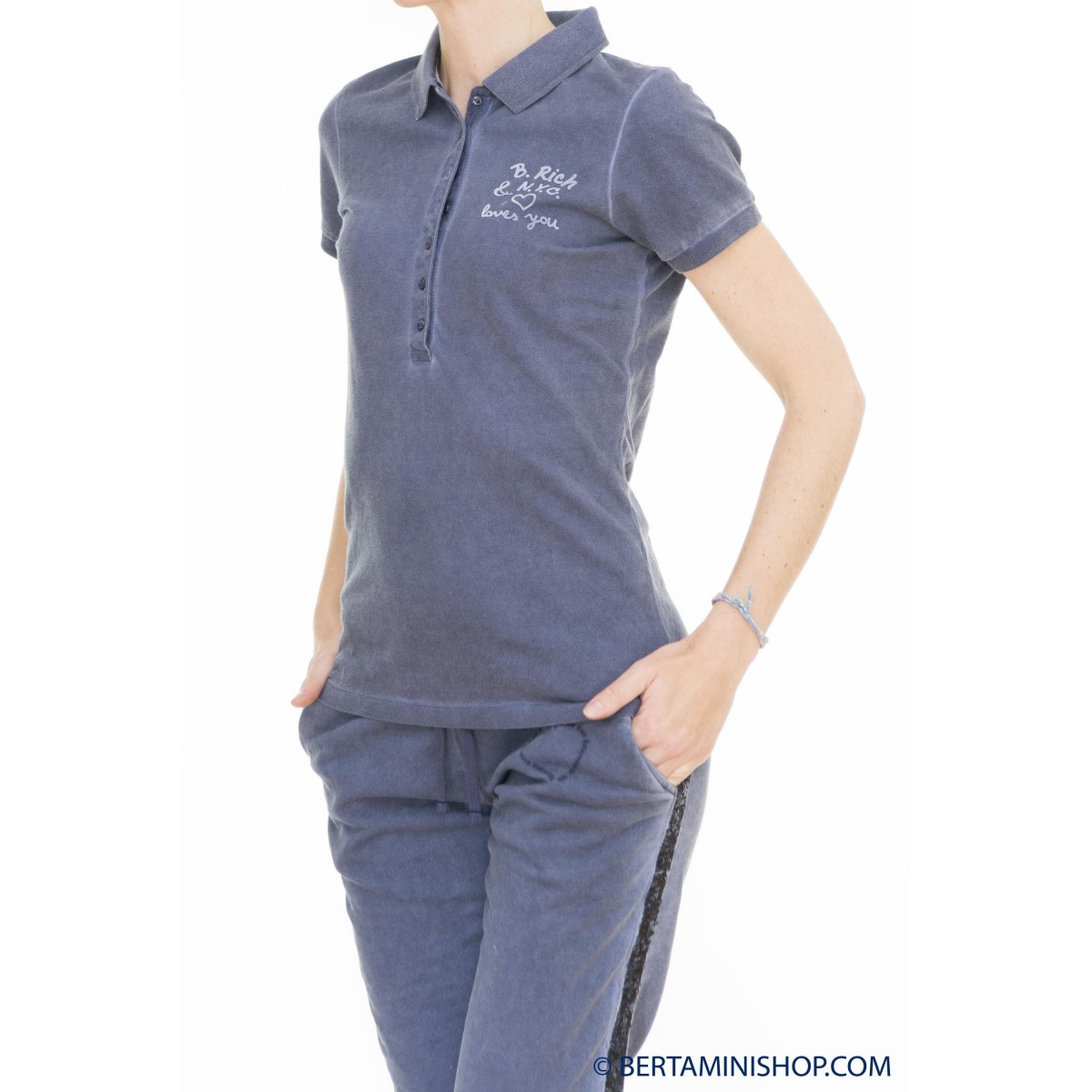 Polo Better Rich Donna - F40 Polo Lavata Freddo 3810 - Blu