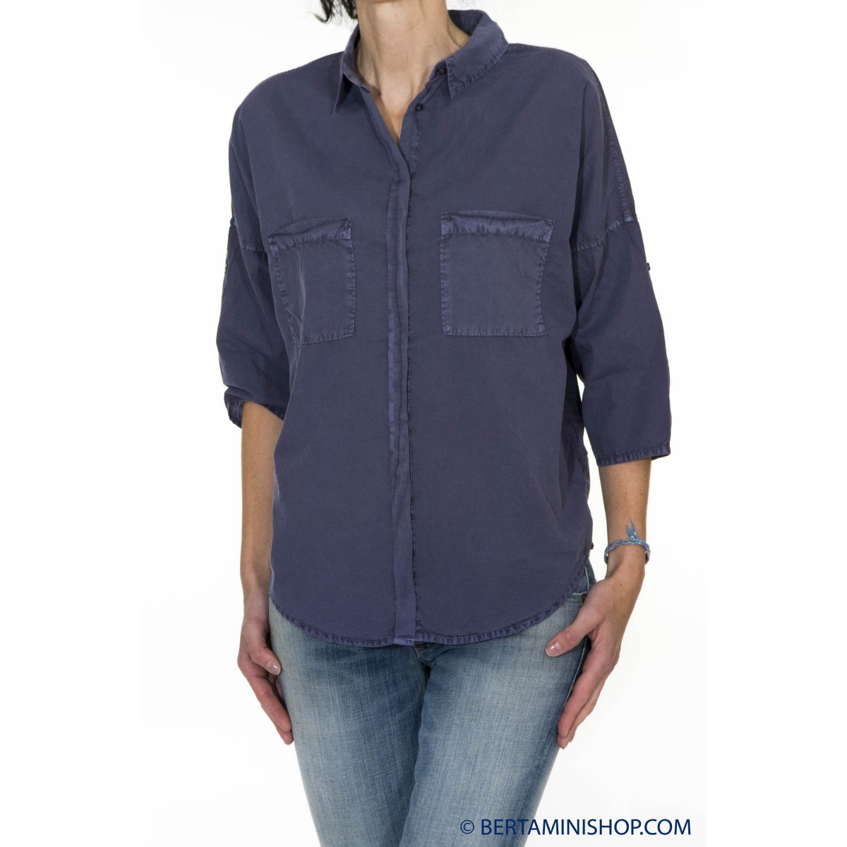 Camicia donna Better rich - F42 camicia over 3810 - Blu