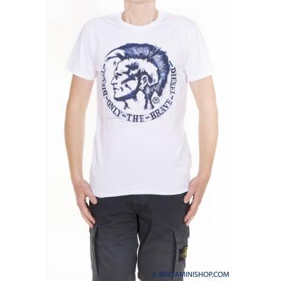 T-Shirt Diesel Manner - T-Diego-FR 100 - Bianco