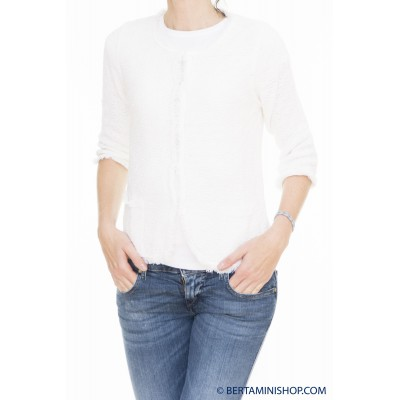 Sweater Kangra Woman - 1711/58 Chanel 01 - bianco