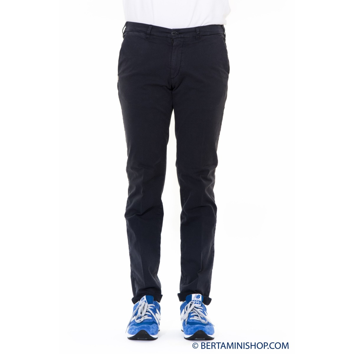 Trousers 40 Weft Man - Lenny 6024 1600 - blu