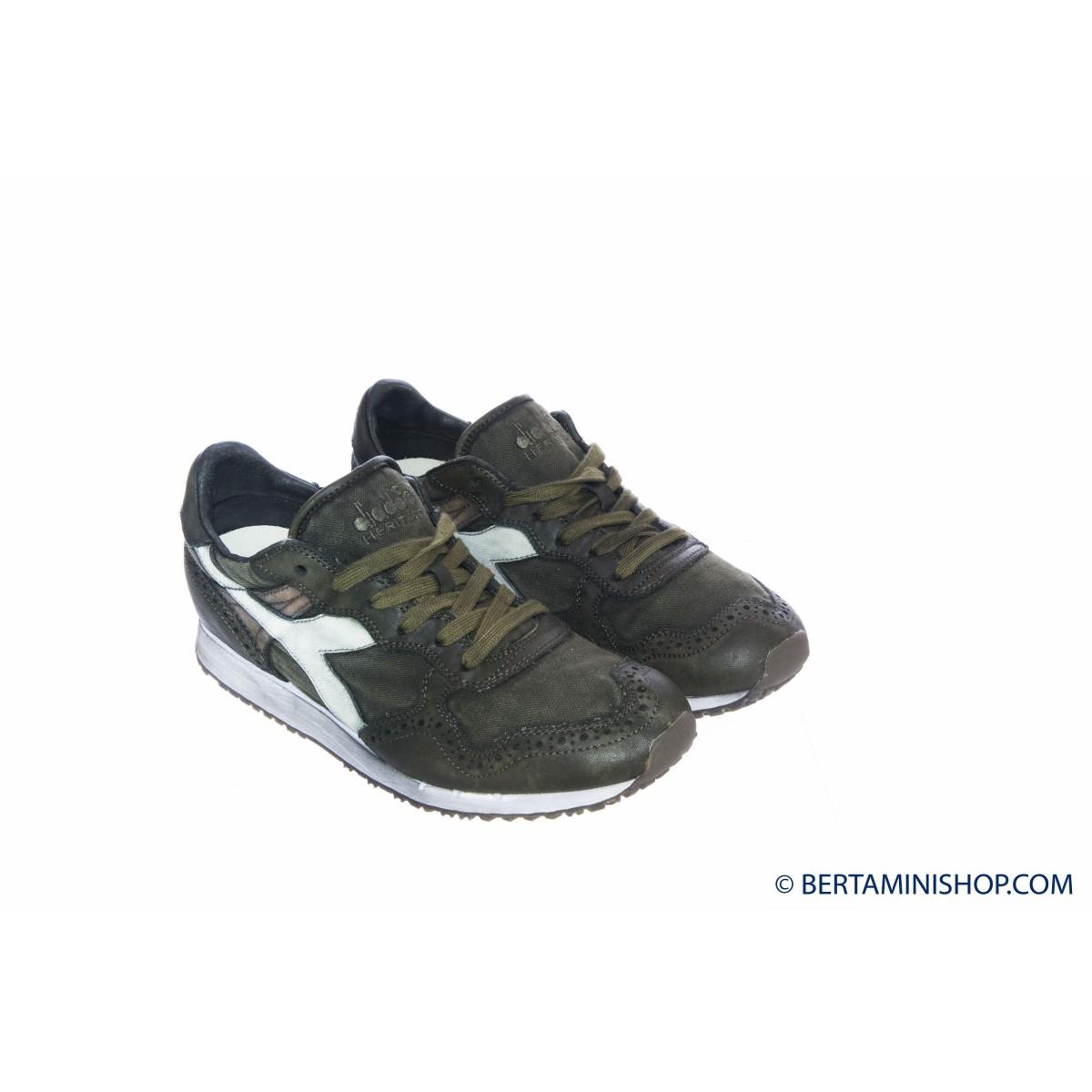 Schuhen Diadora Manner - Trident C Dyed Brogue 70429 - Kiwi Green