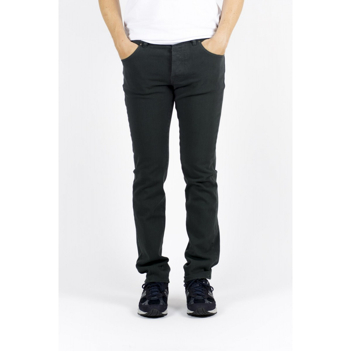 Trousers Thinple Man - Six 46 Twill Bistrech 818 . piombo