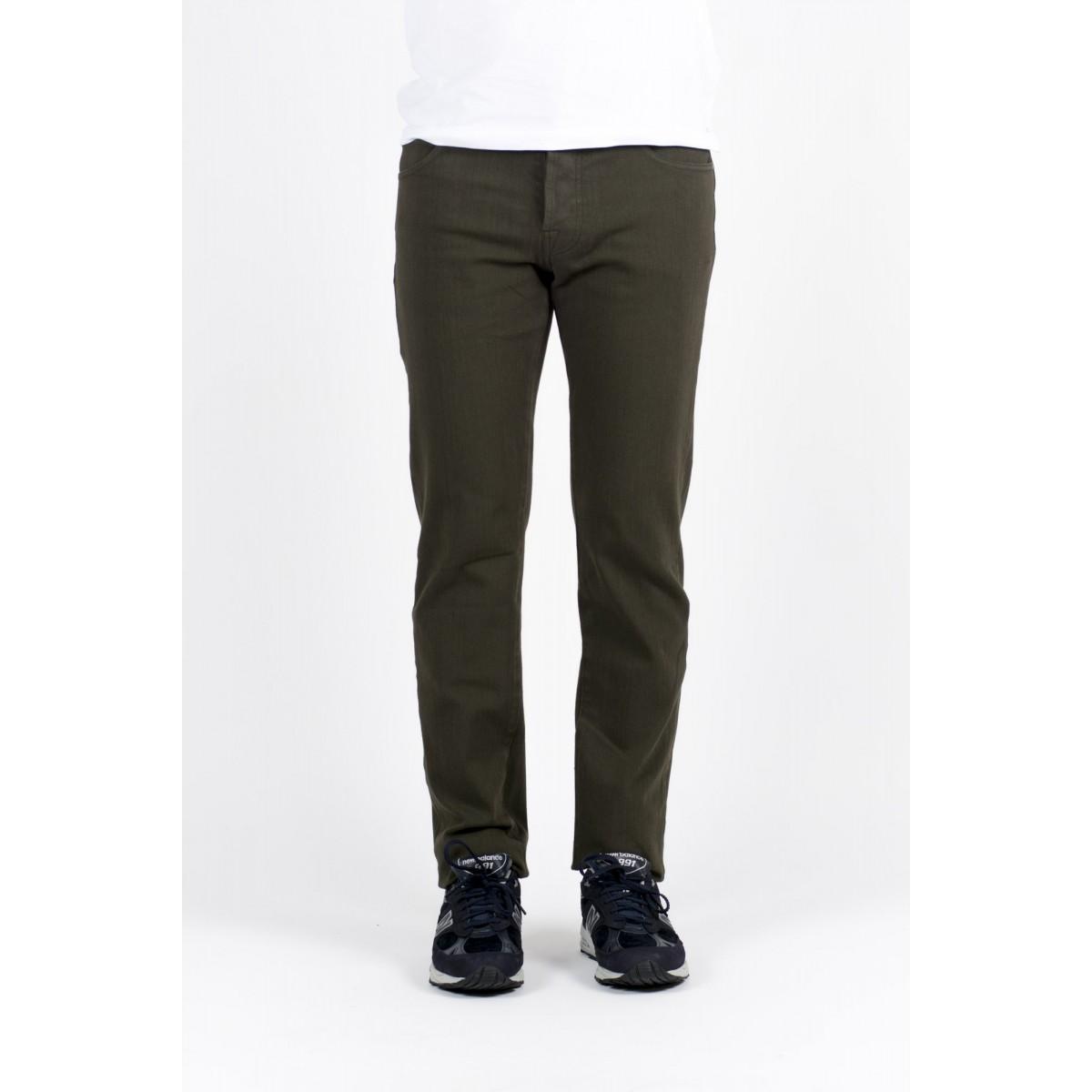 Pantalone uomo Thinple - Six 46 twill sovratinto bielastico 535 - verde