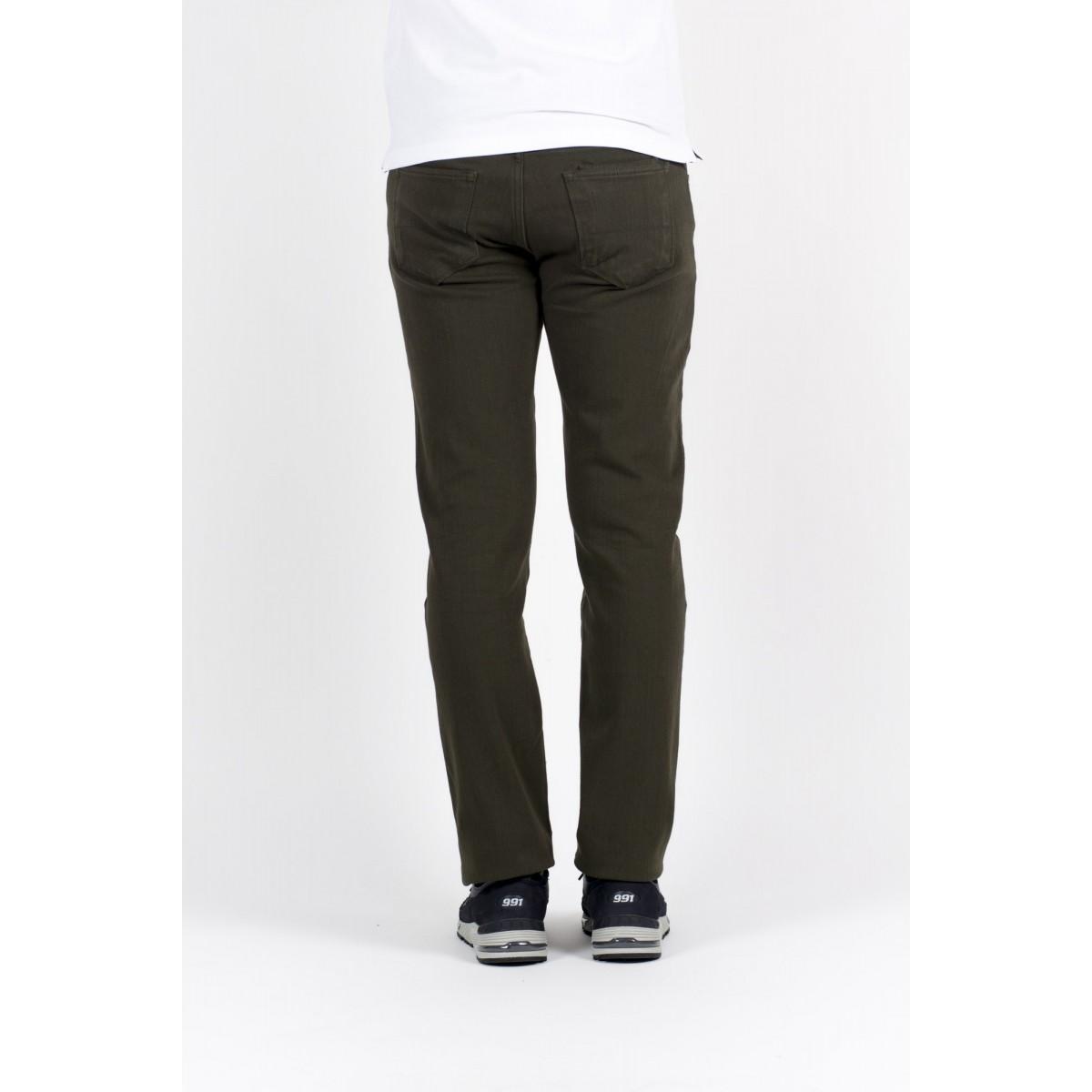 Trousers Thinple Man - Six 46 Twill Bistrech 535 - verde