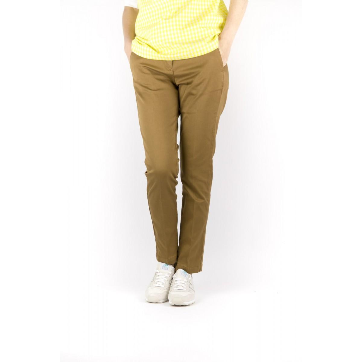 Pantalone donna Department five - Emy t1001 gabardina strech 048 - tabacco