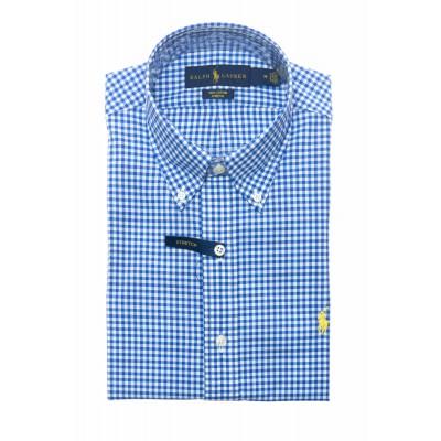 Camicia uomo - 744243 camicia quadretto oxford