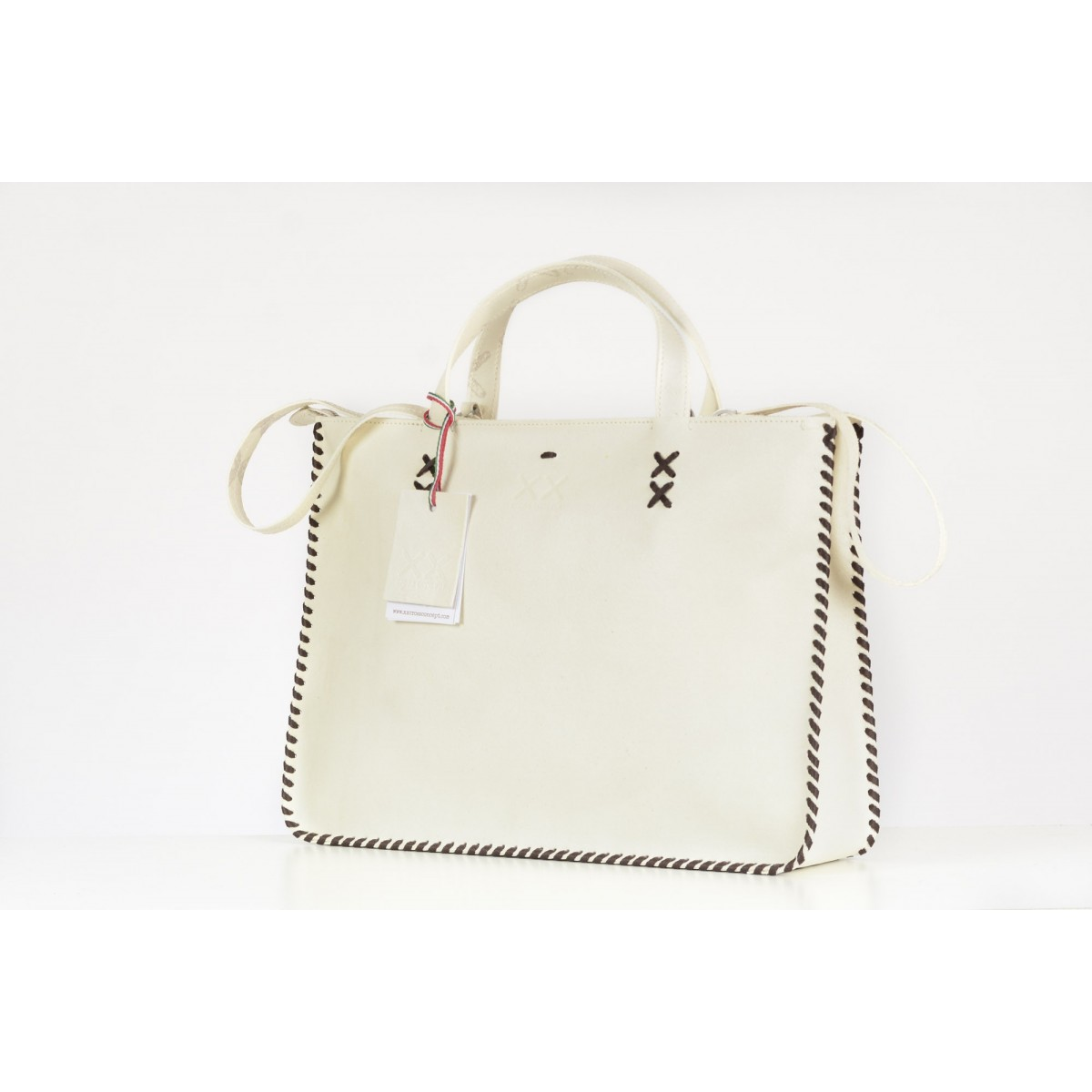 Bags Xx Cross Concept - Hb2 Leather Shopping Bag