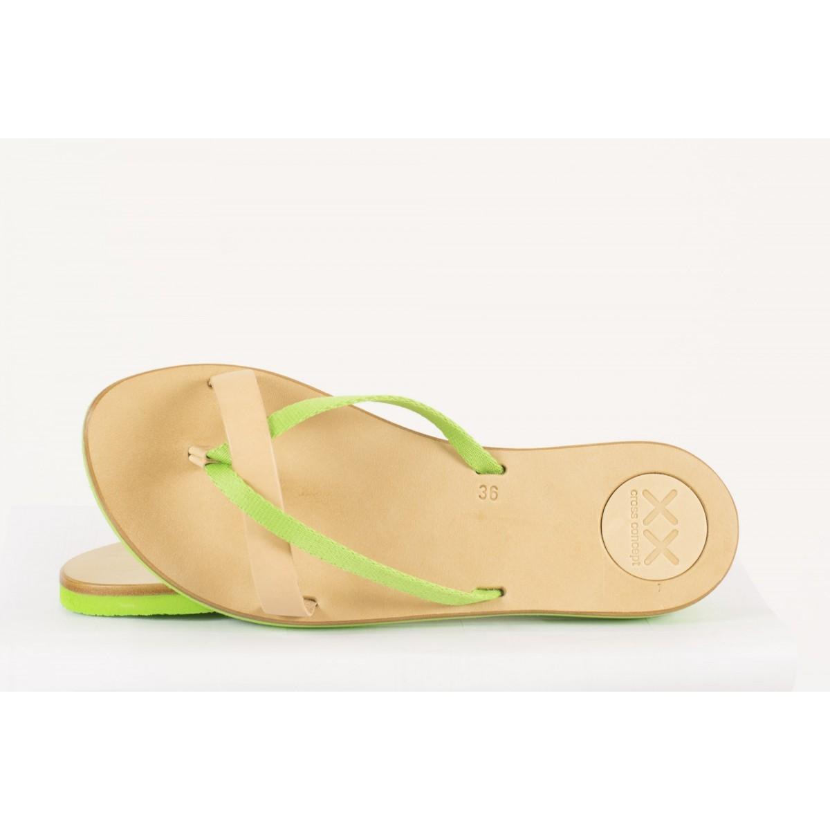 Sandalo Xx cross concept - S01 tutti frutti infradito donna Green