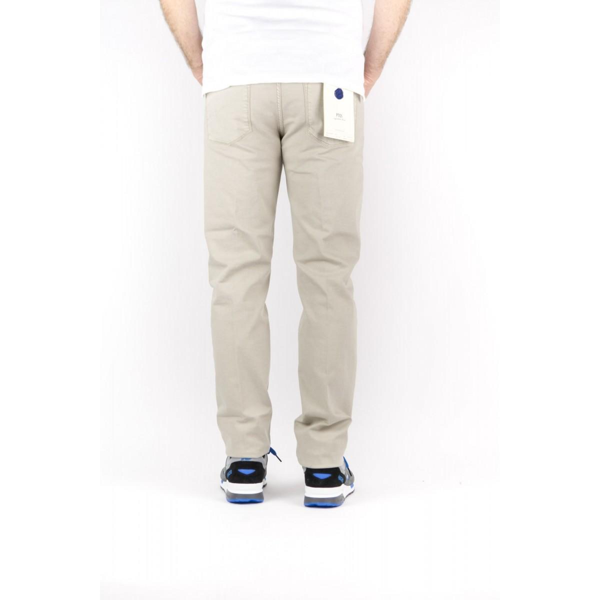 Jeans PT 01 Man - C6P5K5 Jeans Bull Di Cotone 5 Tasche Slim