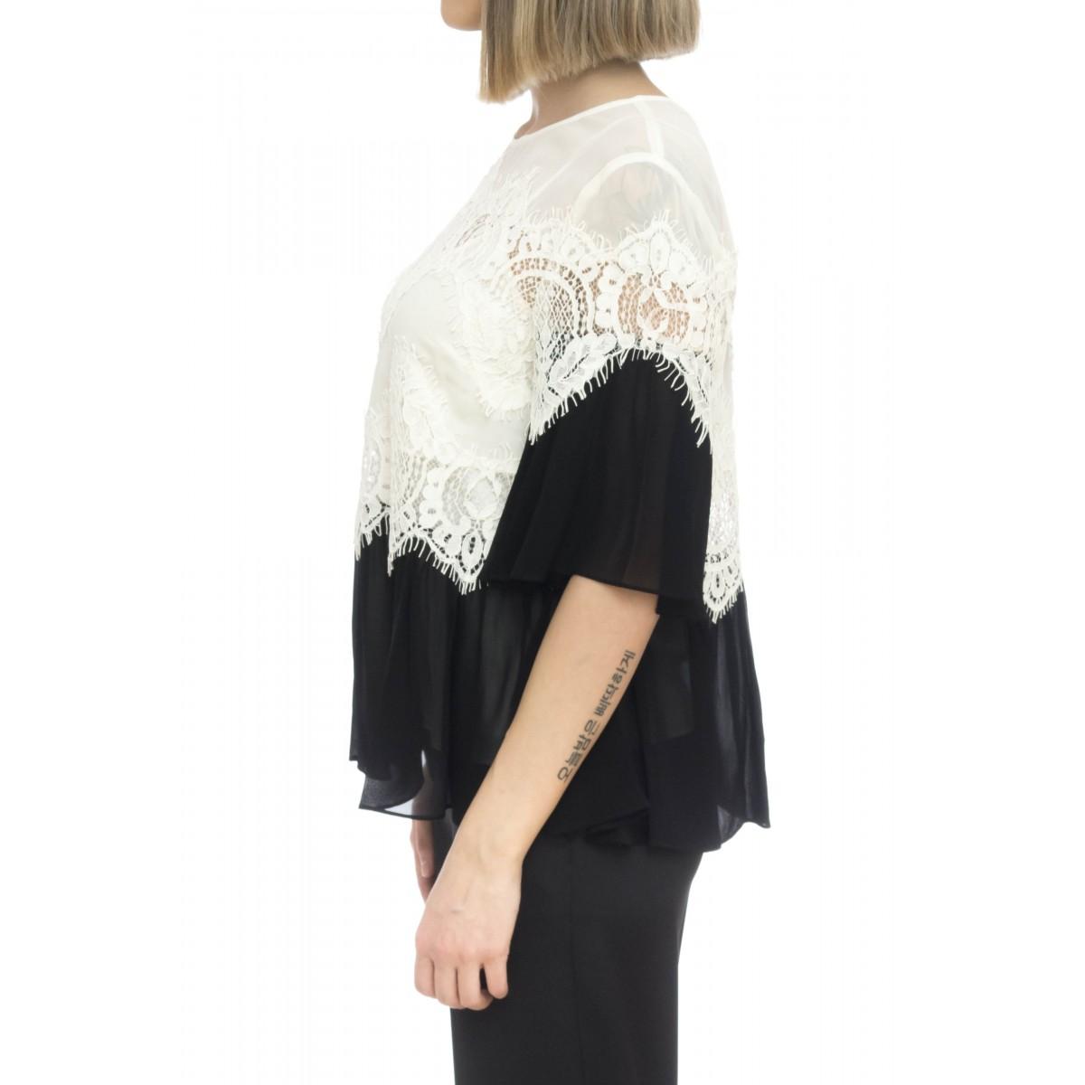 Camicia donna - 2101 camicia pizzo viscosa