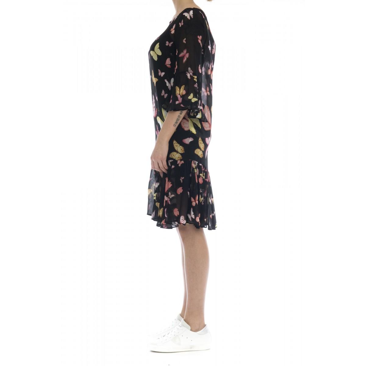 Vestito - 2390 vestito fiori viscosa