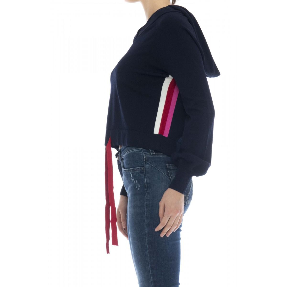Maglieria - Kinder maglia punto milano con cappuccio