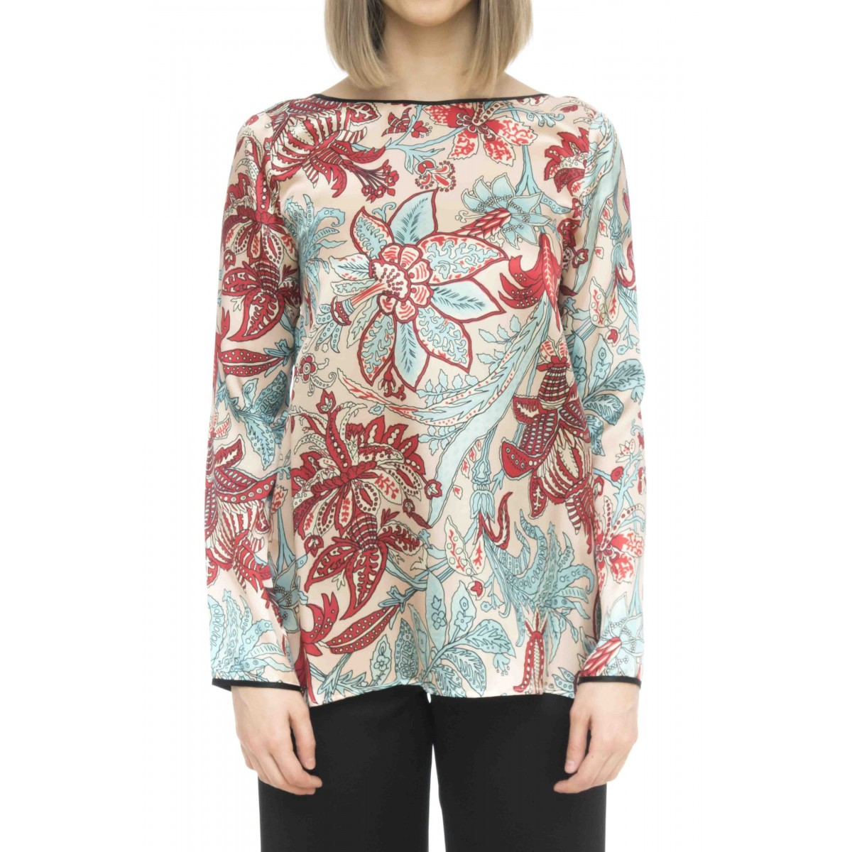 Camicia donna - J2044/f camicia manica lunga stampa