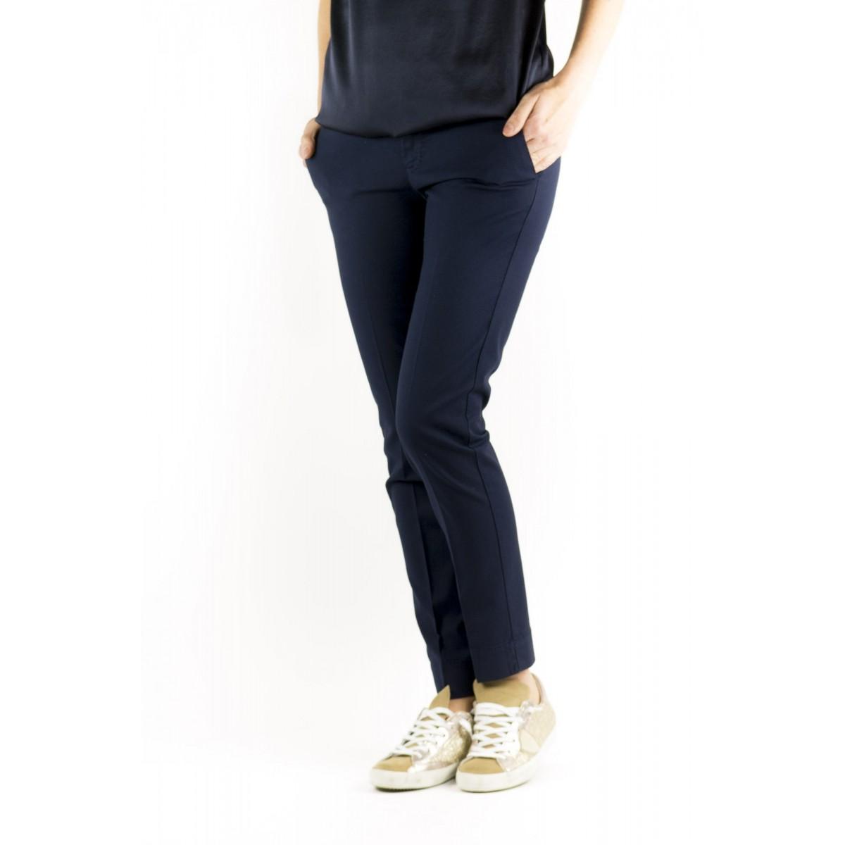 Pantalone donna Pt0w - Vtny ts63 piquet cotone strech 0350 - blu