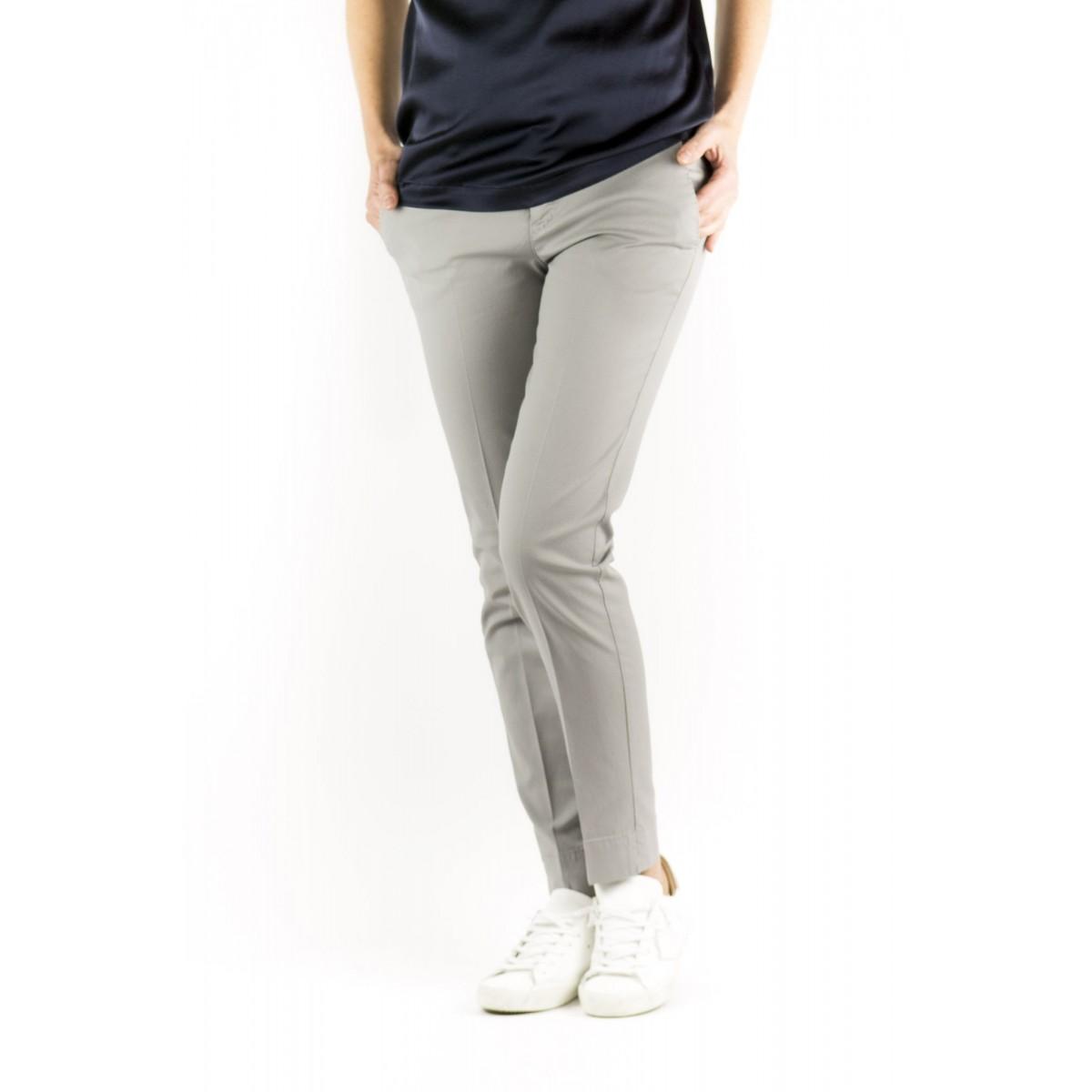 Pantalone donna Pt0w - Vtny ts63 piquet cotone strech 0220 - grigio