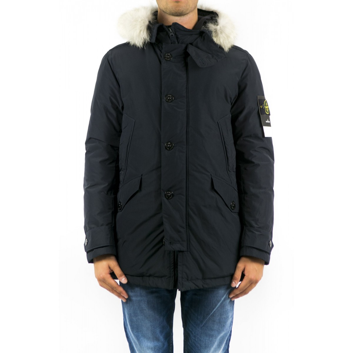 Down Jacket Stone Island - 40926 Parka Pelo In Micro-Reps