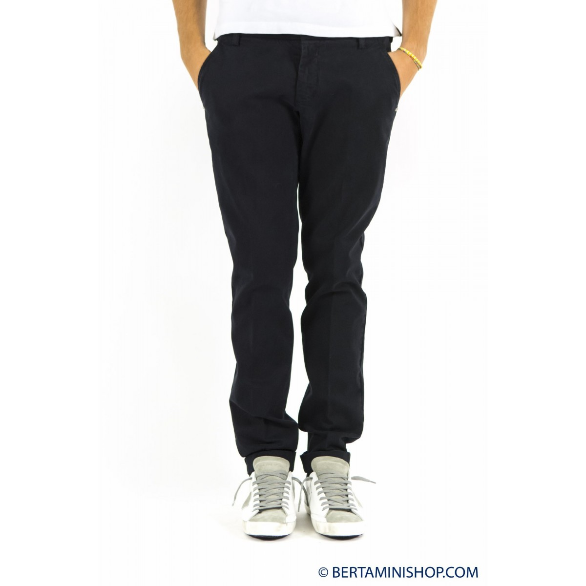 Pantalone uomo Entre amis - 8201 488l17 gabardina strech 401- Blu