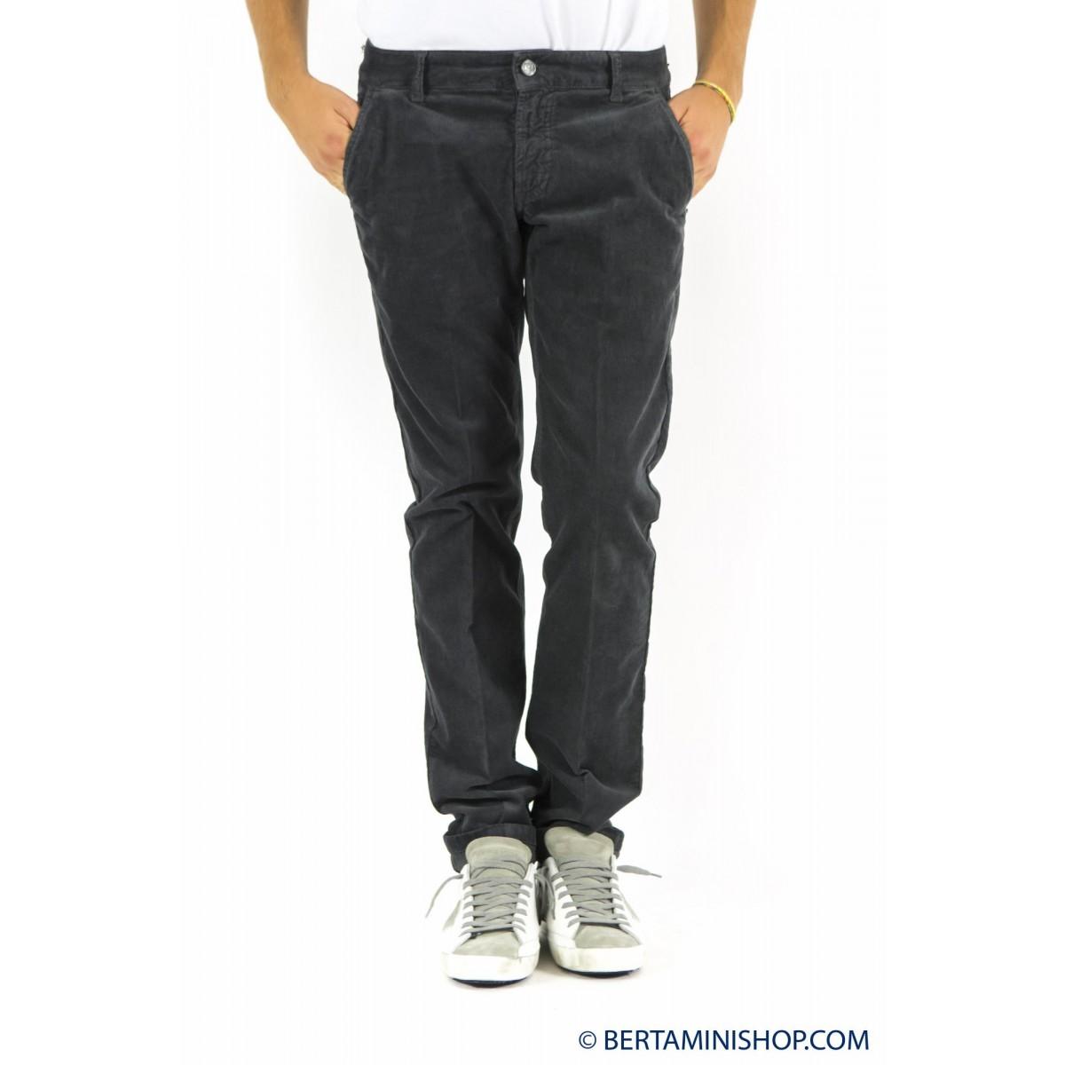 Pantalone uomo Entre amis - 8281 406l17 velluto strech 302 - Grigio