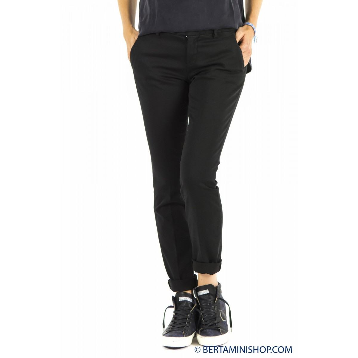 Trousers Roy Rogers Woman - Roxane Raso 020 - nero