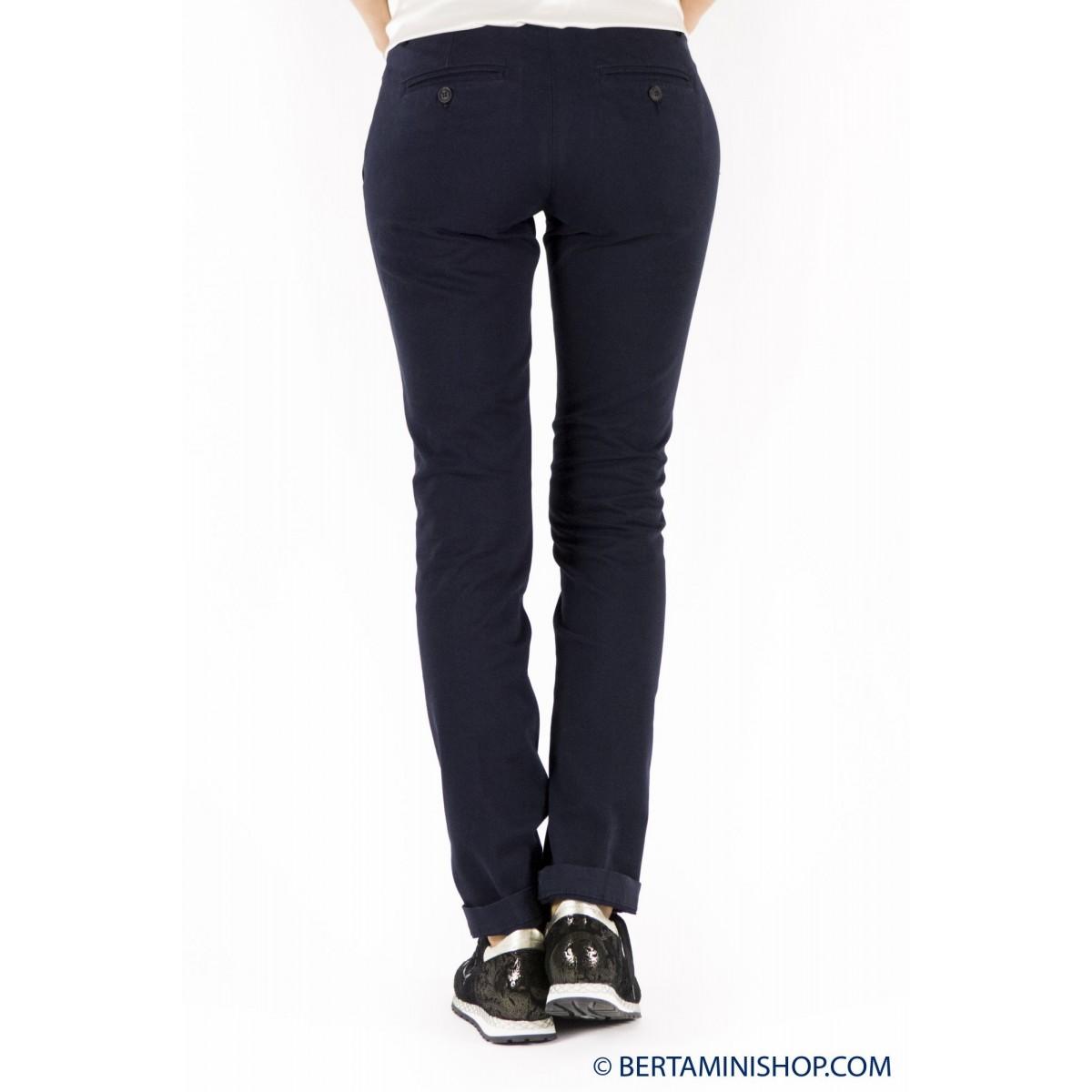 Pantalone donna Roy rogers - Roxane raso elasticizzato 001 - blu